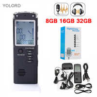 8GB/16GB/32GB 1536kpbs Voice Recorder USB Professional 96 Hours Dictaphone Digital Audio Voice Recorder WAV,MP3 Player