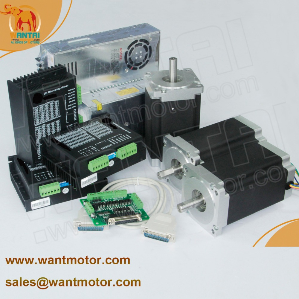 3Axis Nema 34 Stepper motor with 12N m 6 0A 3 matching DQ860MA Driver 80VDC 7