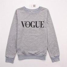 Hirsionsan New Autumn Hoodies Sweatshirt Women VOGUE Printed Funny Hoodies Harajuku Long Sleeve Pullovers Ladies Casual Tops