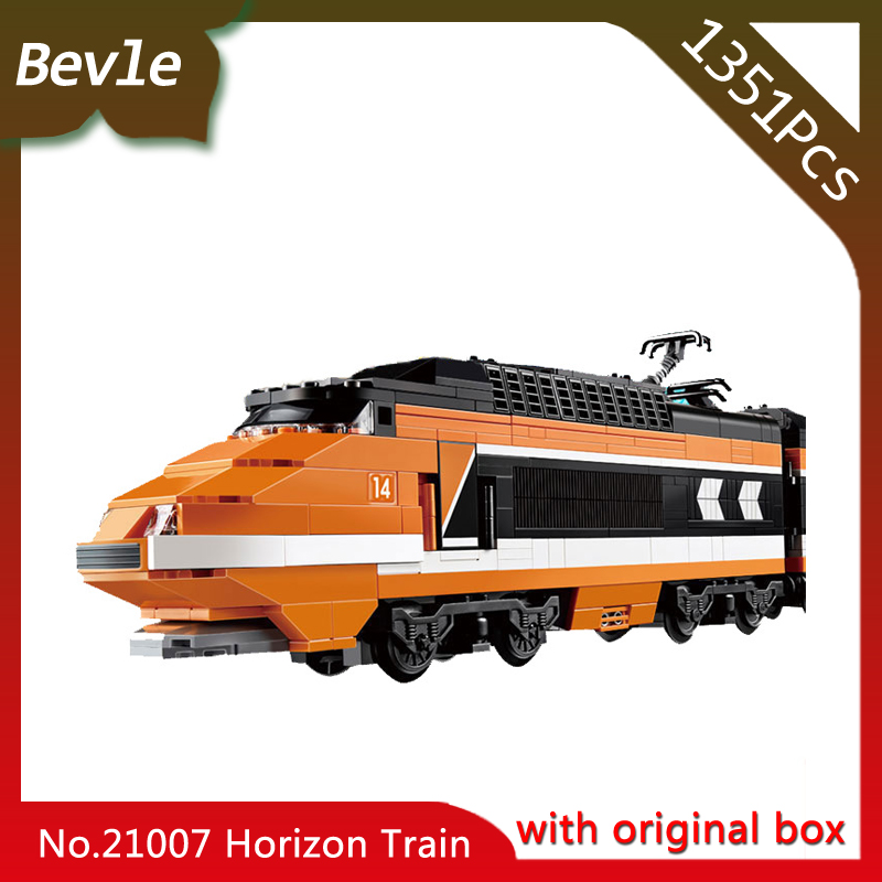 Bevle Store LEPIN 21007 1351Pcs with original box Technic Series Train Model Building Blocks Bricks For Children Toys 10233 bevle store lepin 22001 4695pcs with original box movie series pirate ship building blocks bricks for children toys 10210 gift