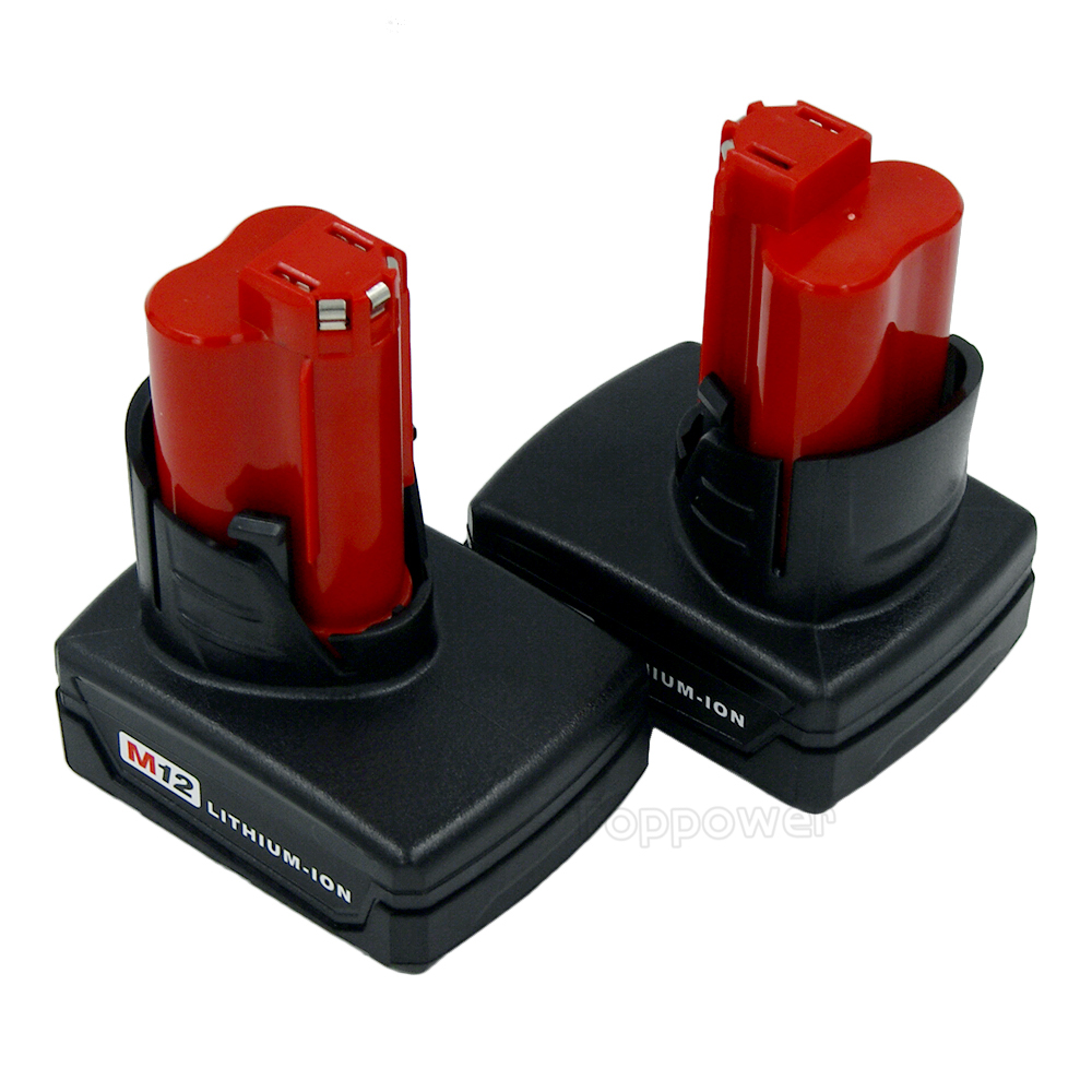 2X 12 Volt 4000mAh  4.0 Ah M12 Lithium-ion Cordless Power Tools Battery for Milwaukee M12 48-11-2411 48-11-2402 48-11-2401 3pcs 12v lithium ion 1500mah power tool rechargeable battery with charger replacement for milwaukee m12 48 11 2401 48 11 2402