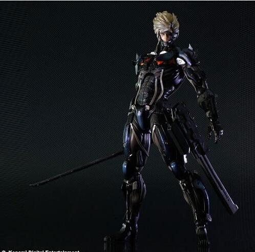 25 cm Metal Gear Solid Square Enix Metal Gear Rising revengeance figuras de acción PVC brinquedos colección figuras Juguetes