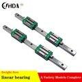Il trasporto libero 2 pcs lineare binario di guida HGR20 mm di larghezza + HGH20 4 pcs HGH20CA guida lineare rotaie blocco cnc parti braccio Meccanico