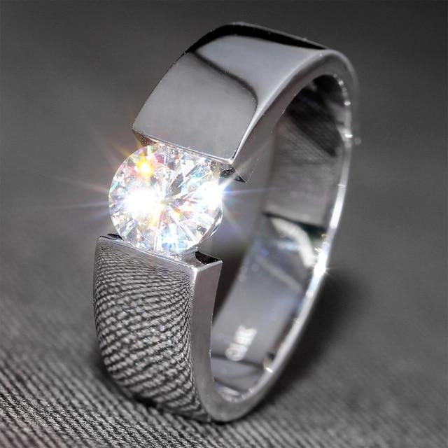 f182d628d0a 6.5mm Wide 1 Carat F Color Engagement Wedding Lab Grown Moissanite Diamond  Band For Men Women
