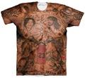 JR Smith Tatuagens T-Shirt Das Mulheres Dos Homens Hipster 3D t camisa Do Vintage Tribo indígena Estampas de Tatuagem camisetas Ganhos Harajuku Camiseta Tees