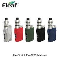 electronic cigarette 75W Eleaf iStick Pico X With Melo 4 Sub Ohm Tank EC Mesh Coil 2ml Capacity 22mm By Single 18650 Vape e cigs