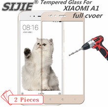 2pcs full cover Tempered Glass For xiaomi A1 5X screen protective MI MI5X MIA1 5.5 inch 5 X smartphone toughened on