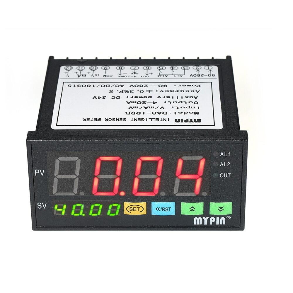 2 Relay Alarm Output LED Display Sensor Meter and 0 10V 4 20mA 0 75mV Input