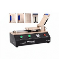 LY 973 V.3 hepsi bir yarı-Otomatik Vakum OCA film laminasyon makinesi 4 kalıpları ile S6 S6 + S7 S8 S8 + kenar
