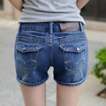 Women Mid Waist Slim Denim Shorts Washed Shorts Jeans Spring Summer Ladies Brand Plus Size 26-32 Sexy Hip Pockets Denim Jeans