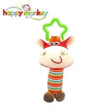 Baby Kids Rattle Toys Cartoon Anomal Plush Hand Bell Baby Stroller Crib Hanging Rattles Kawaii 6 Tpye For Gift 35%Off