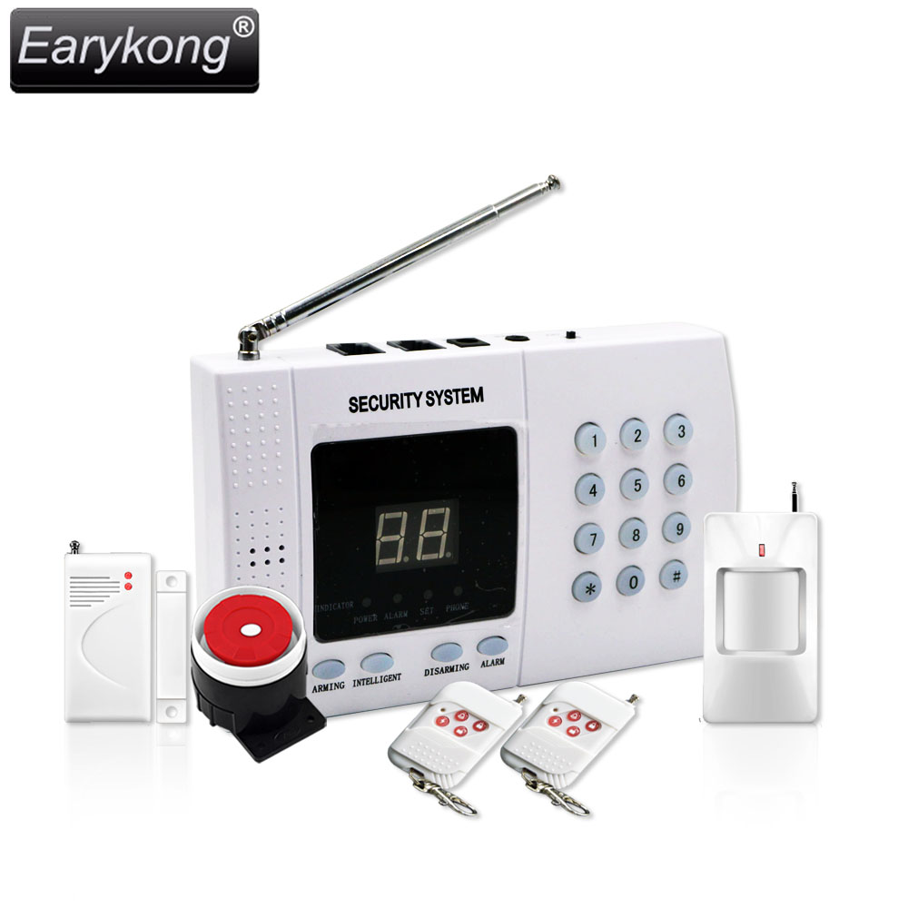 Free shipping NEW High quality pstn alarm system 433mhz White Wireless Home Security Alarm hot Infrared detector remote control free shipping dc12v 433mhz metal