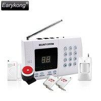 Spedizione gratuita NUOVO di Alta qualità pstn sistema di allarme 433 mhz Bianco Wireless Home Security Allarme caldo rilevatore A Infrarossi telecomando