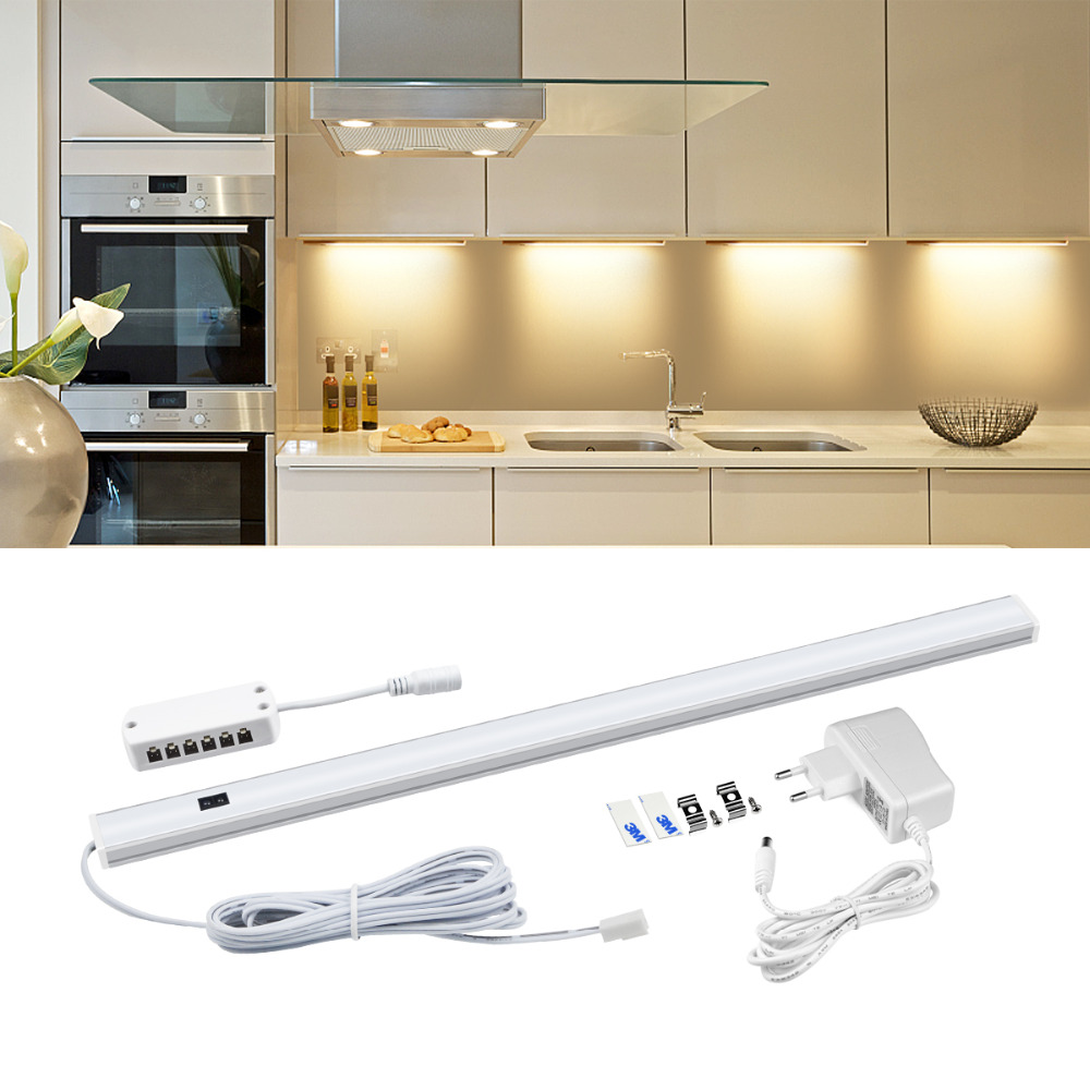 Hand Waving Control LED Bar Lights 12V Kitchen Lamp Closet Bulb With 220V Power Supply Hand Scan Motion Sensor LED Lamp Tube