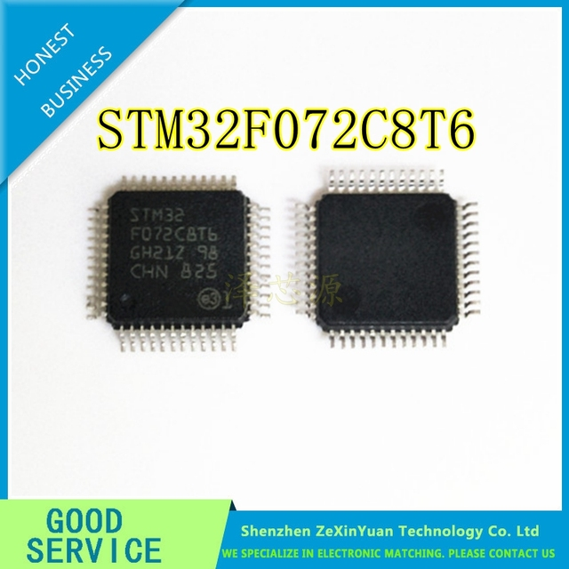 10PCS/LOT STM32F072C8T6 LQFP48 SINGLE CHIP STM32F072 PROFESSIONAL AGENT NEW