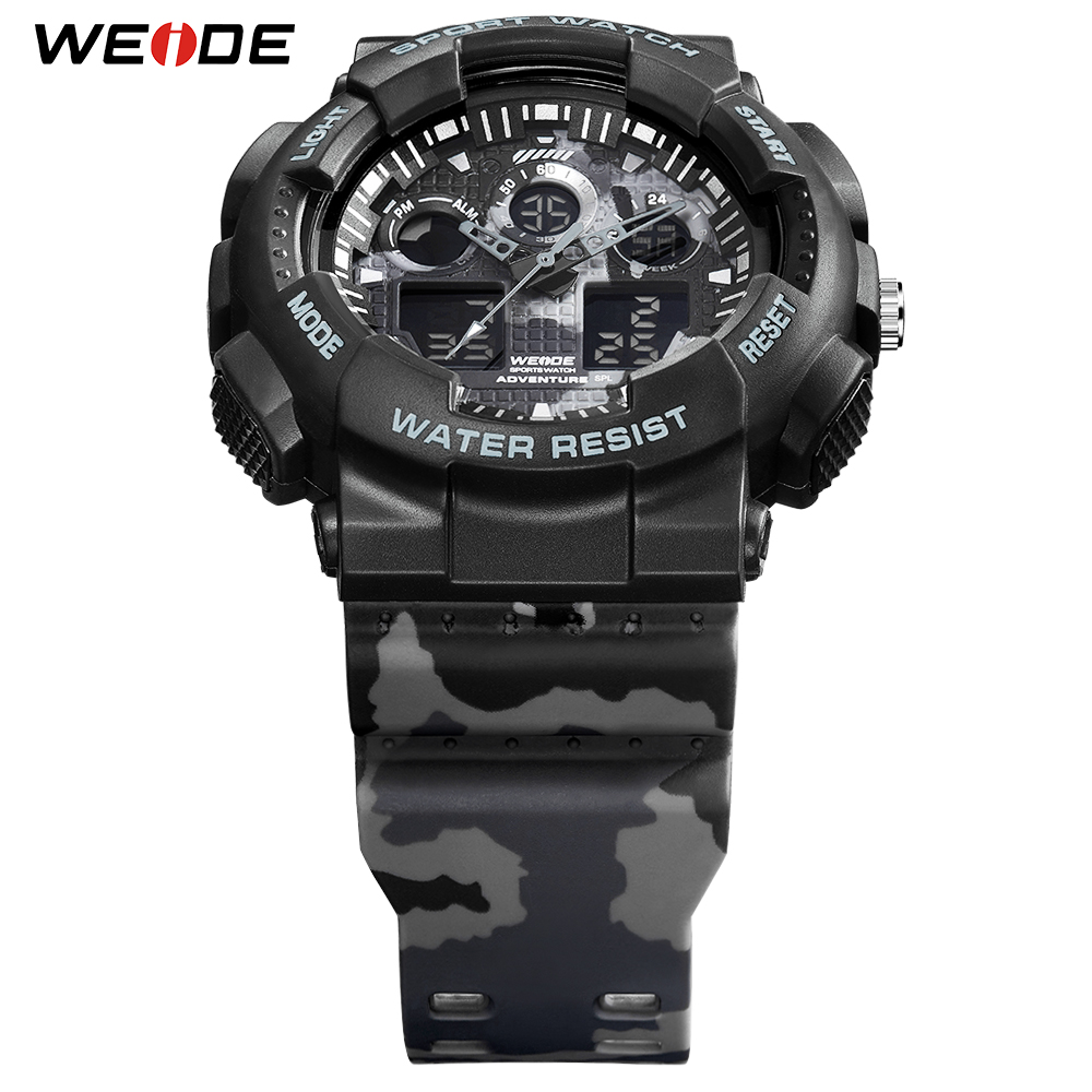 WEIDE New 2019 Military Men Watches Sport Digital Safety Warning Auto Date 50M Waterproof Wristwatch Male Clock Hour Outdoor in Digital Watches from Watches