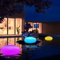 Solar Light Lamps Swimming Pool Ball Cobble Stone Lamp Light LED Solar Lighting Garden Decoration with Remote Control