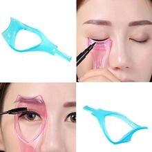 3 IN 1 Cosmetic Makeup Beaty Long Fake Mascara Applicator Guide Comb Eyelash Curler Cosmetic tools