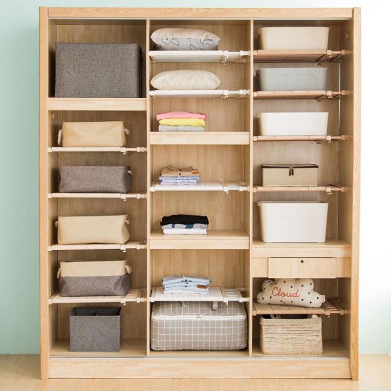 Adjustable Shelf Closet Storage Rack Organizer Expandable For Kitchen Cupboard Wardrobe Bookcase -Drop