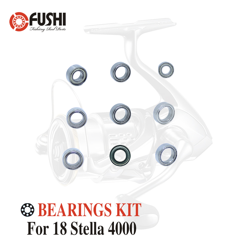 Fishing Reel Stainless Steel Ball Bearings Kit For Shimano 18 Stella 4000 / 03808 Spinning Reels Bearing Kits