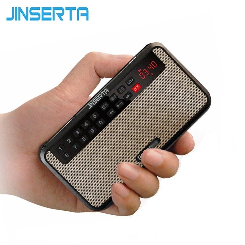 JINSERTA רדיו FM כרטיס TF נייד פנס מוסיקת MP3 רמקול סטריאו מולטימדיה דיגיטלית עבור ספורט תחת כיפת השמיים