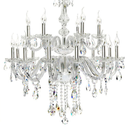 Shiny French Light Empire Candle Crystal Chandelier Pendant Lamp Fixture
