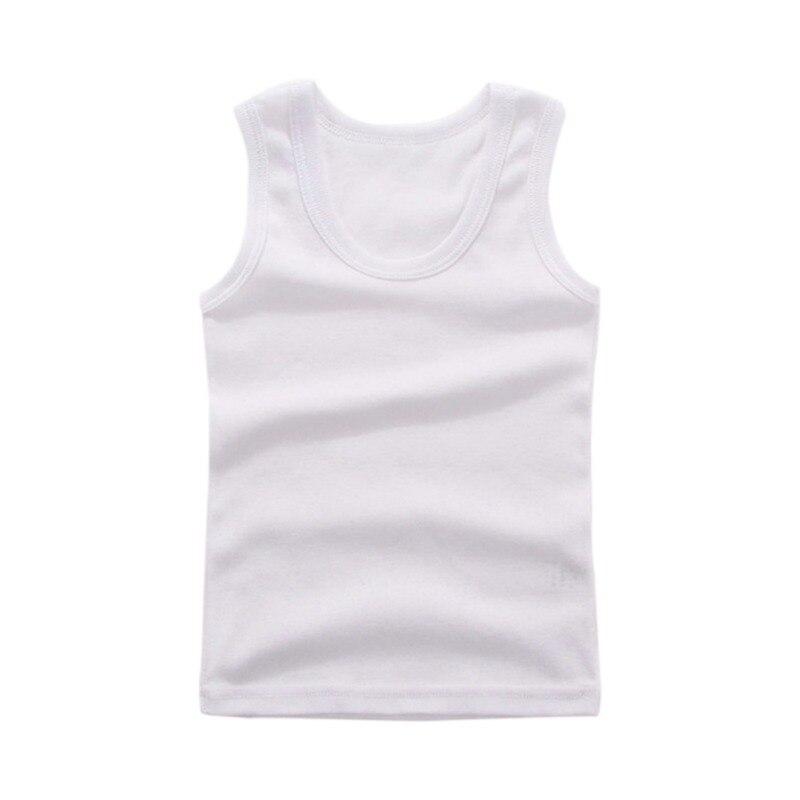 3-8Y Kids Underwear Cotton Girls Boys Tanks Tops Baby Boy Summer Vest Girl Camisole Children Solid Undershirt Sleeveless Vest 2