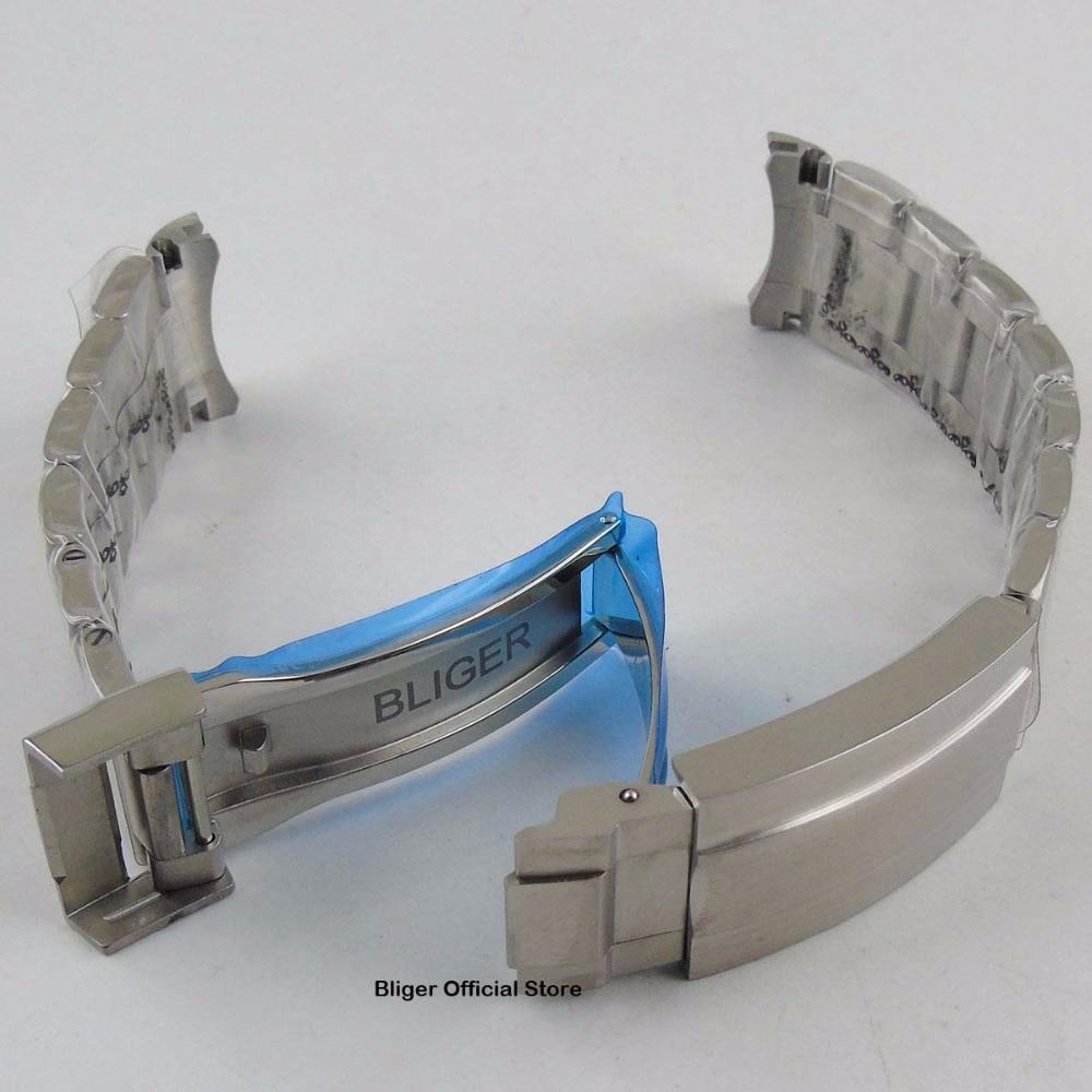 20 MM en acier inoxydable montre Bracelet montre sangle déploiement boucle Bracelet de montre Fit pour 40mm montre pour hommes