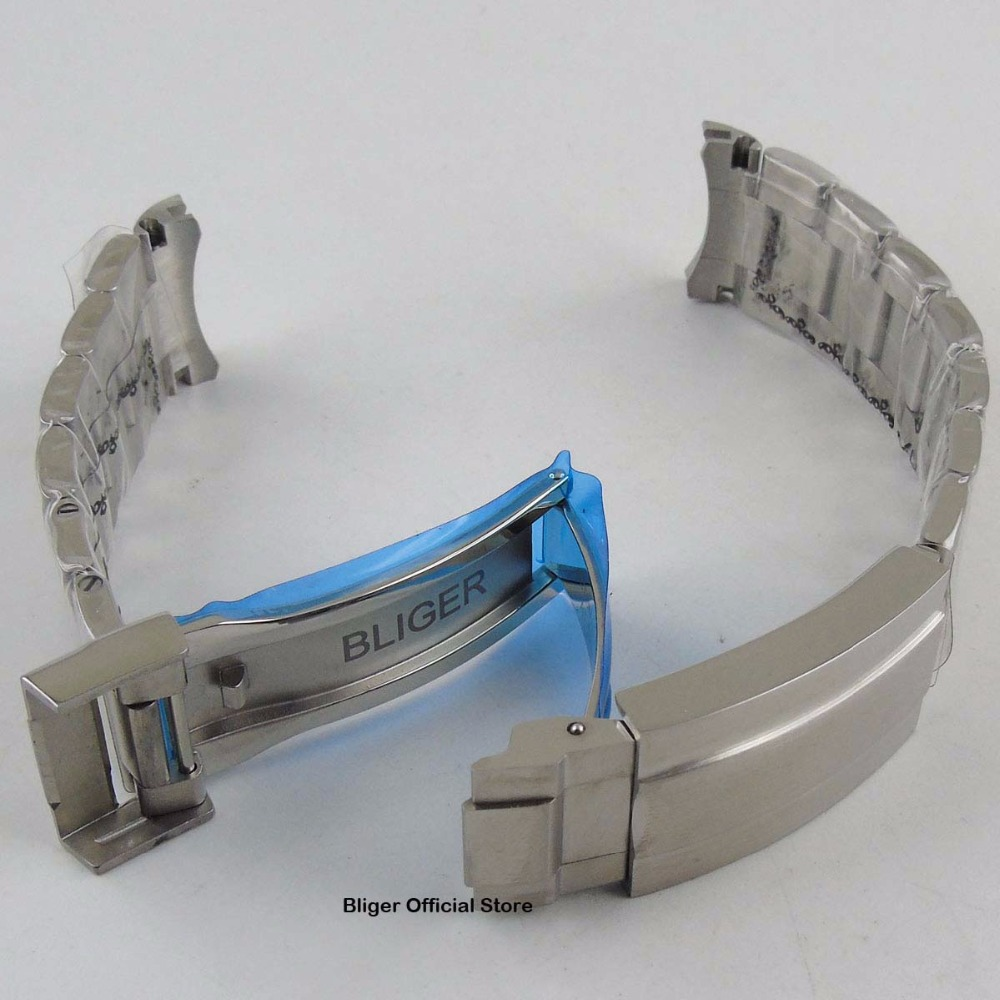 20MM Stainless Steel Watch Bracelet Watch Strap Deployment Buckle Watch Band Fit For 40mm Men's Watch