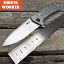LDT ZT 0801 Folding Blade Knives D2 Blade Steel Handle Ball Bearing Tactical Camping Knife Outdoor Survival Hunting Pocket Tools