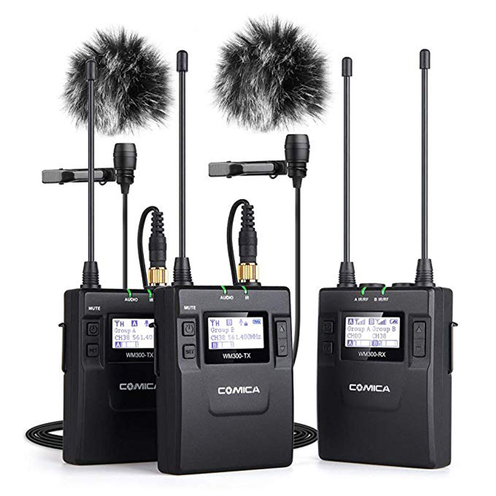 COMICA CVM-WM300 UHF 96-channels Metal Wireless Microphone Dual-transmitters 1 Receiver , 120m smooth recording for DSLR VideoCOMICA CVM-WM300 UHF 96-channels Metal Wireless Microphone Dual-transmitters 1 Receiver , 120m smooth recording for DSLR Video