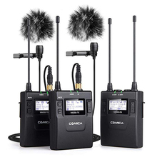 COMICA CVM-WM300 UHF 96-channels Metal Wireless Microphone Dual-transmitters 1 Receiver , 120m smooth recording for DSLR Video
