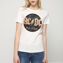 Rocksir AC DC рок или бюст прин T футболка t женщин T футболка t ACDC Футболки женские 2017 Summer co t на AC/DC Tee шир T женщин T Ops(China (Mainland))