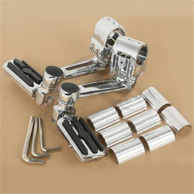 Image 2 - Motorcycle 1 1/4'' Highway Chrome Front Foot pegs Footrest For Honda GL1800 GOLDWING-in Foot Rests from Automobiles & Motorcycles