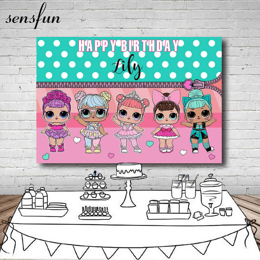 Sensfun Girls Birthday Party Photography Backdrop White Polka Dots Mint Green Pink Theme Backgrounds For Photo Studio 7x5FT mint green casual sleeveless hooded top