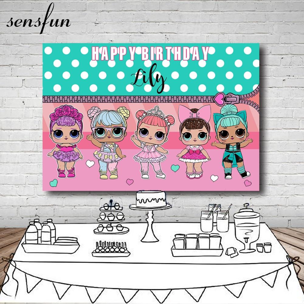 Sensfun niñas fiesta de cumpleaños fotografía fondo blanco lunares menta verde rosa tema fondos para foto estudio 7x5FT