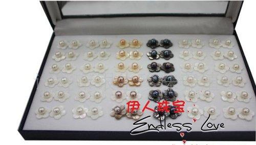 Новое поступление! Пресноводные жемчужные серьги-клипсы цветок ювелирные изделия аксессуар милые ювелирные изделия+ 36 пар/лот