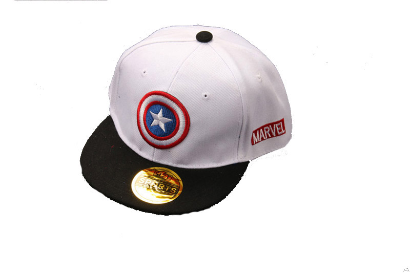 captain america winter soldier baseball cap shield retail hip hop hat caps summer style sun hats cartoon children civil war
