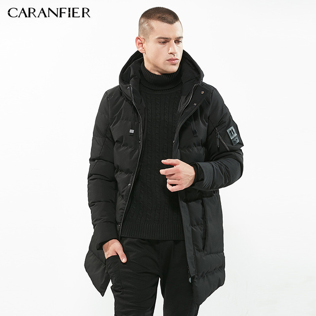 Black long parka jacket mens
