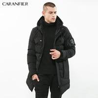 CARANFIER High Quality Parka Men Winter Long Jacket Men Thick Cotton Padded Jacket Mens Parka Coat