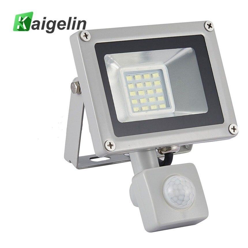 5 PCS Kaigelin LED érzékelő Flood Light 20W 220V SMD 5730 infravörös érzékelő árvízlámpa kültéri világítás LED indukciós lámpák