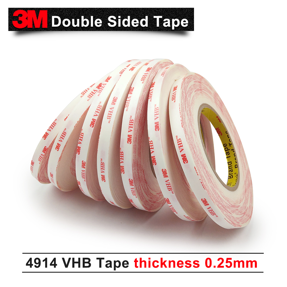 3M VHB 4914 doulbe sided adhesive foam tape/thickness is 0.25mm /10mm*33M/ 5rolls/lot