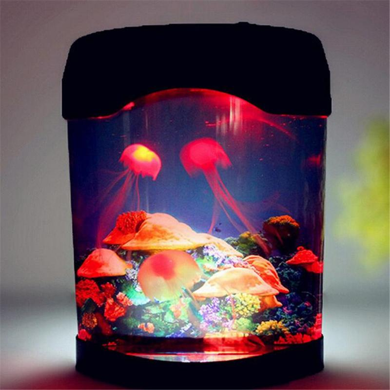 Jellyfish Lava Lamp Delectable Home Decor Colorful LED Jellyfish Led Nursery Lamp For Kid Children