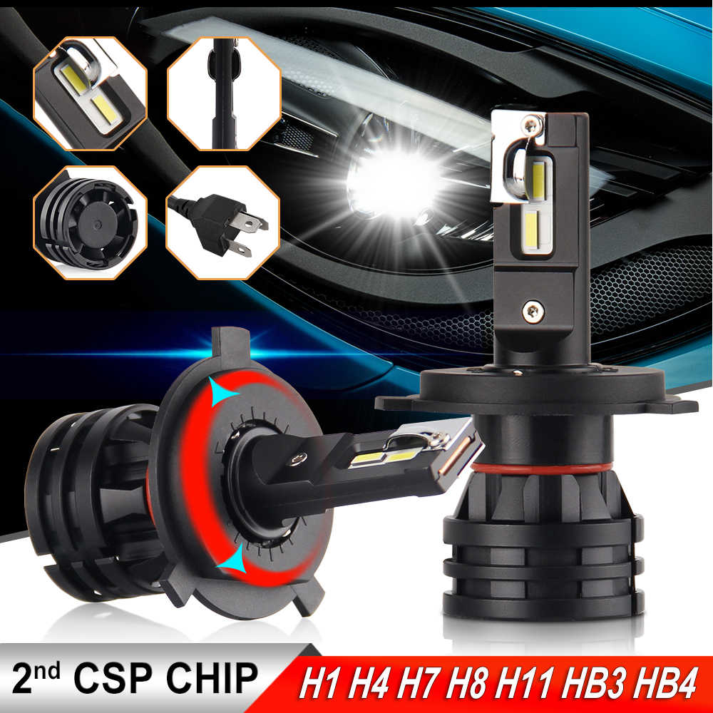 BraveWay 2019 New Arrival 16000LM H4 LED Headlights for Cars H1 H4 H7 H8 H9 H11 HB3 HB4 9005 Turbo LED Bulbs for Auto Lights 12V