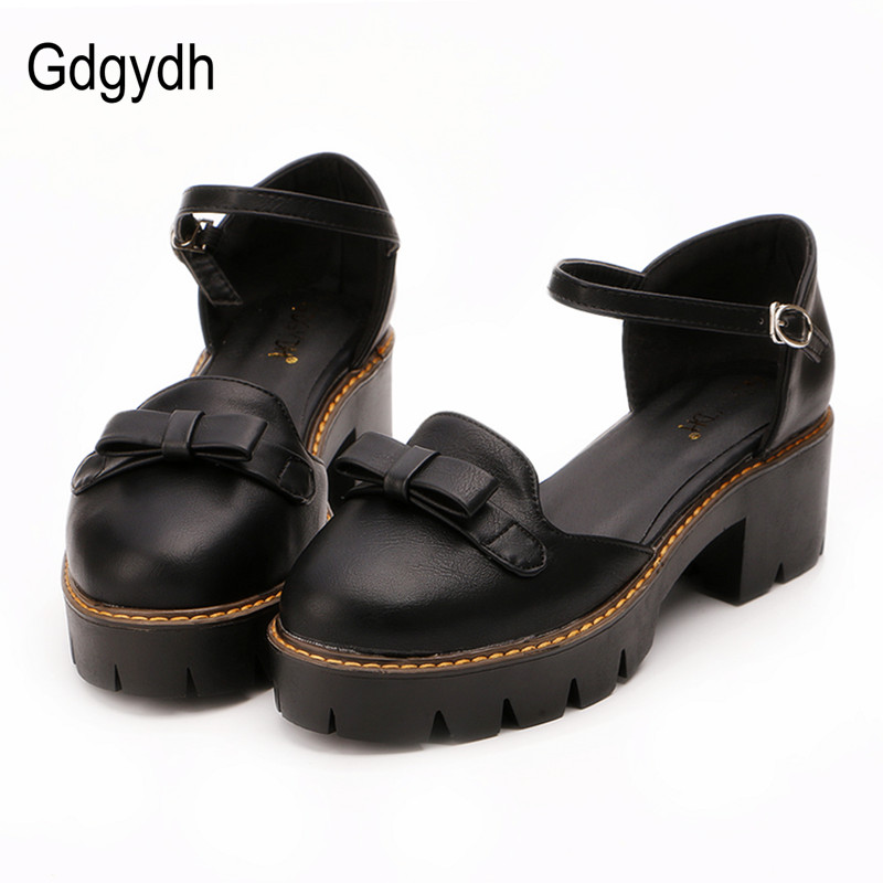 Gdgydh Fashion Summer Women Sandals Shallow Mouth Bot-knot Female Shoes Round Toe Platform Shoes Woman 2017 New Big Size 43 e hot sale wholesale 2015 new women fashion leopard flat shallow mouth shoes lady round toe shoes