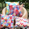 2016 Colorful Geometric Pattern Look Printed Decorative Pillow Cover Throw Pillow Cover Cushion Cover Summer Seaside