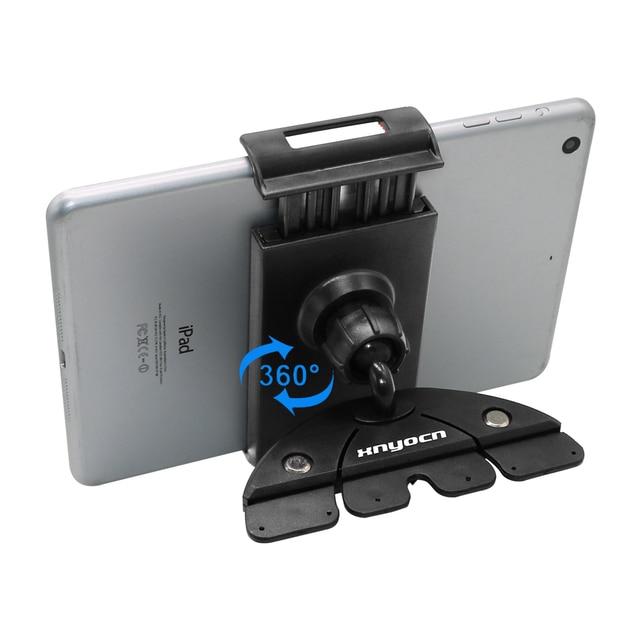 Uniwersalny 7 8 9 10 11 calowy uchwyt do wejścia na cd uchwyt do tabletu uchwyt do telefonu komórkowego stojak do montażu obrotowy do Iphone Samsung xiaomi huawei