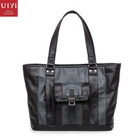 Retro Vintage Style PU Leather Tote Handbag Shoulder Top Handle Bag Business Luxury Design Briefcase Messenger