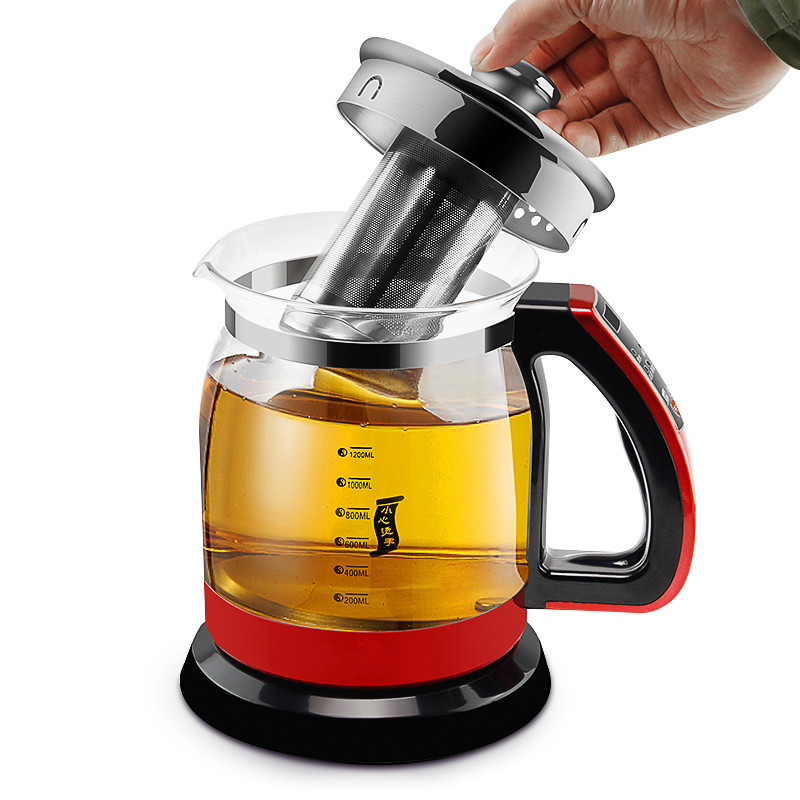 Electric kettle Curing pot of black tea boiled machine multi-function automatic thickening glass tisanes Traditional Chinese curing pot tisanes of the multifunctional automatic thickening glass boiled tea electric cooking pot electric water ket