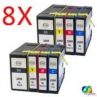 Pack de 8 cartuchos de tinta compatibles Canon 2500 PGI2500 para Canon Maxify IB4050 MB5050 MB5150 MB5350 MB5155 MB5450 MB5455 impresora|ink cartridge|cartridge canon|compatible ink cartridge -
